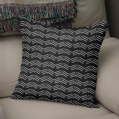 Albia Throw Pillow Color: Black, Size: 16 H x 16 W