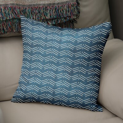 Albia Throw Pillow Color: Blue, Size: 16 H x 16 W