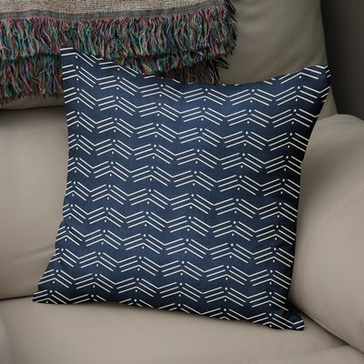 Albia Throw Pillow Color: Navy, Size: 18 H x 18 W