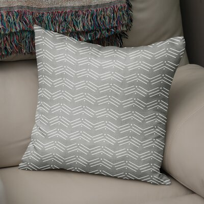 Albia Throw Pillow Color: Grey, Size: 16 H x 16 W