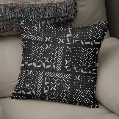 Albin Throw Pillow Color: Black, Size: 16 H x 16 W