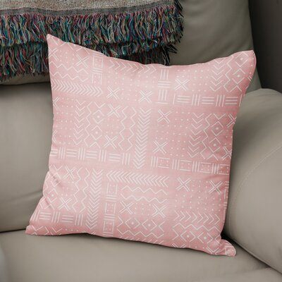 Albin Throw Pillow Color: Pink, Size: 24 H x 24 W