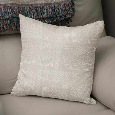 Albin Throw Pillow Color: Cream, Size: 16 H x 16 W
