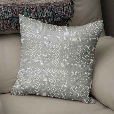 Albin Throw Pillow Color: Grey, Size: 24 H x 24 W