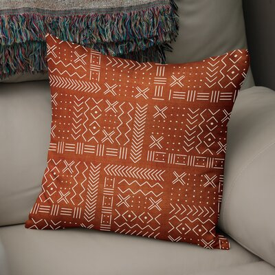 Albin Throw Pillow Color: Rust, Size: 16 H x 16 W