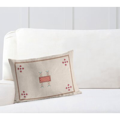 Geometric Lumbar Pillow with Double Sided Print Size: 12 H x 16 W