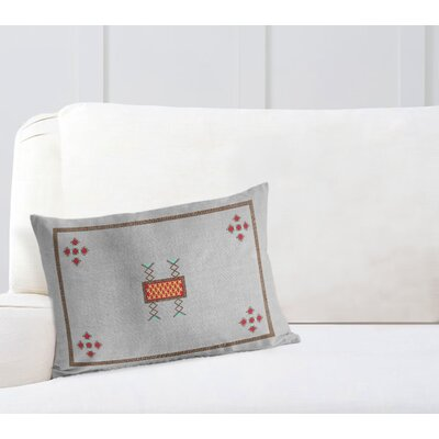 Zipper Lumbar Pillow with Double Sided Print Size: 18 H x 24 W