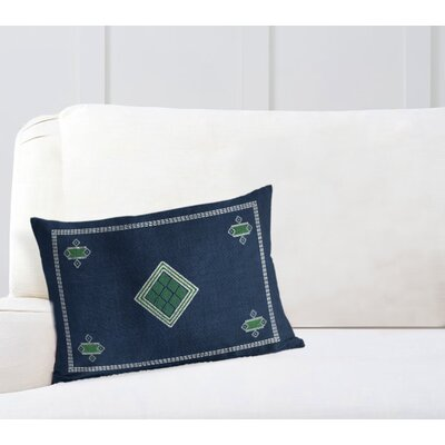 Geometric Rectangular Woven Lumbar Pillow with Double Sided Print Size: 18 H x 24 W
