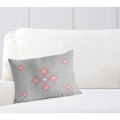 Rectangular Woven Lumbar Pillow with Double Sided Print Size: 12 H x 16 W