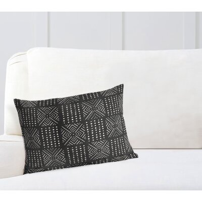 Geometric Lumbar Pillow Color: Black, Size: 18 H x 24 W