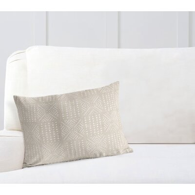 Geometric Lumbar Pillow Color: Cream, Size: 12 H x 16 W