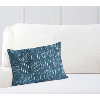 Geometric Lumbar Pillow Color: Blue, Size: 12 H x 16 W