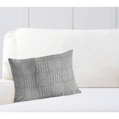 Geometric Lumbar Pillow Color: Grey, Size: 18 H x 24 W
