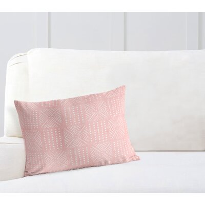 Geometric Lumbar Pillow Color: Pink, Size: 12 H x 16 W