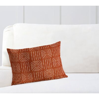 Geometric Lumbar Pillow Color: Rust, Size: 18 H x 24 W