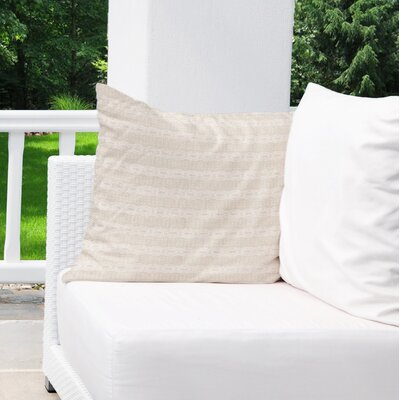 Albreda Indoor/Outdoor Euro Pillow Color: Black/ Cream