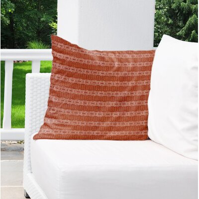 Albreda Indoor/Outdoor Euro Pillow Color: Rust