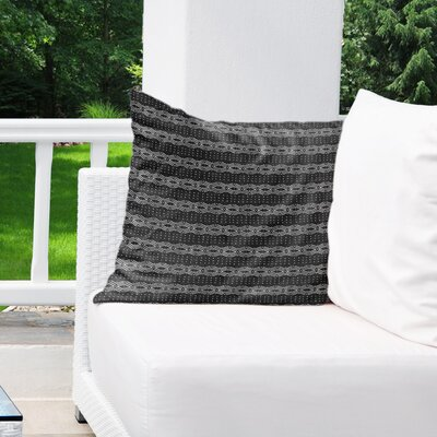 Albreda Indoor/Outdoor Euro Pillow Color: Black