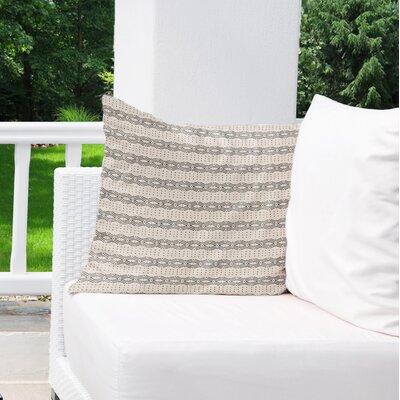 Albreda Indoor/Outdoor Euro Pillow Color: White/ Cream