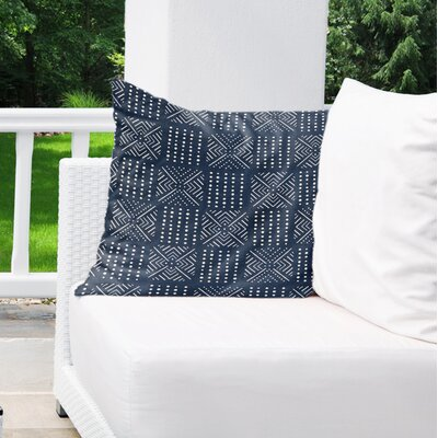 Albina Indoor/Outdoor Euro Pillow Color: Navy