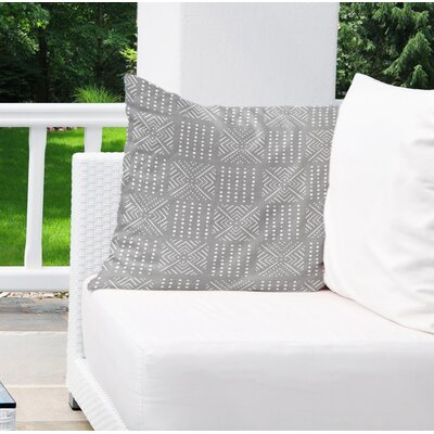Albina Indoor/Outdoor Euro Pillow Color: Grey