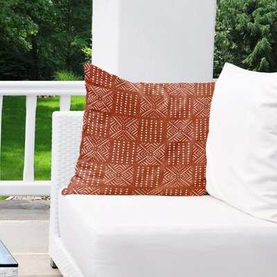 Albina Indoor/Outdoor Euro Pillow Color: Rust