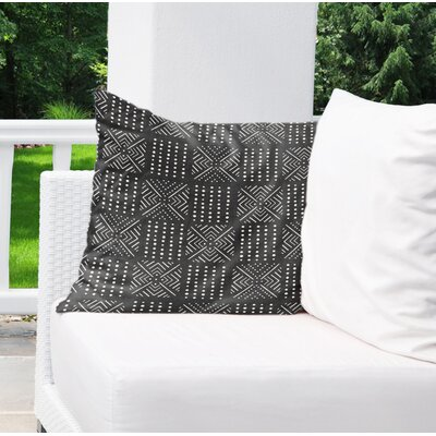 Albina Indoor/Outdoor Throw Pillow Color: Black, Size: 18 H x 18 W