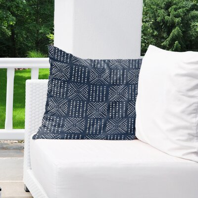 Albina Indoor/Outdoor Throw Pillow Color: Navy, Size: 16 H x 16 W