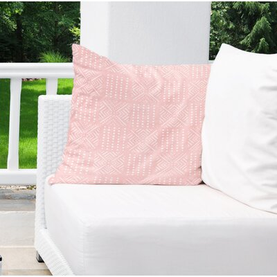Albina Indoor/Outdoor Throw Pillow Color: Pink, Size: 16 H x 16 W