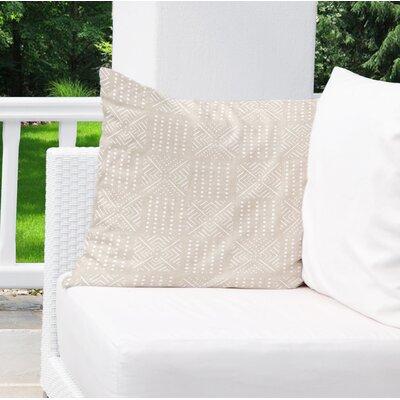 Albina Indoor/Outdoor Throw Pillow Color: Cream, Size: 16 H x 16 W