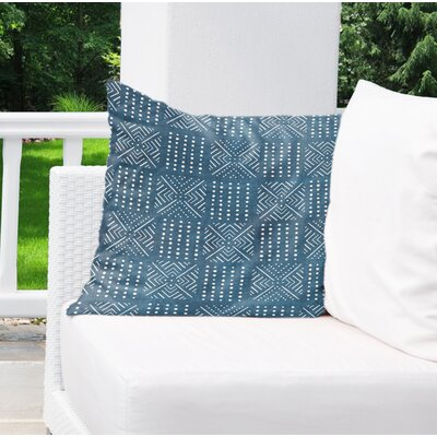Albina Indoor/Outdoor Throw Pillow Color: Blue, Size: 18 H x 18 W