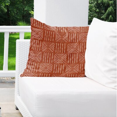 Albina Indoor/Outdoor Throw Pillow Color: Rust, Size: 18 H x 18 W