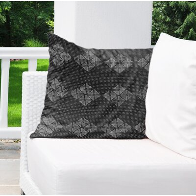 Albion Indoor/Outdoor Throw Pillow Color: Black, Size: 16 H x 16 W