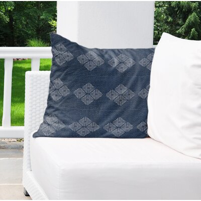 Albion Indoor/Outdoor Throw Pillow Color: Blue, Size: 18 H x 18 W