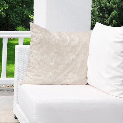 Albion Indoor/Outdoor Throw Pillow Color: Cream, Size: 16 H x 16 W