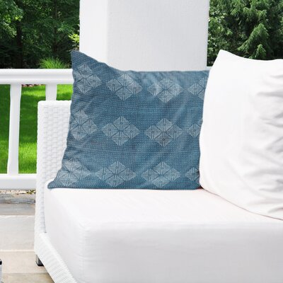 Albion Indoor/Outdoor Throw Pillow Color: Navy, Size: 16 H x 16 W