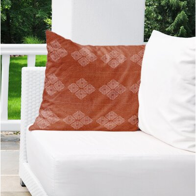 Albion Indoor/Outdoor Throw Pillow Color: Rust, Size: 18 H x 18 W