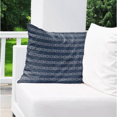 Albreda Indoor/Outdoor Throw Pillow Color: Blue, Size: 18 H x 18 W