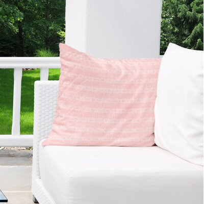 Albreda Indoor/Outdoor Throw Pillow Color: Pink, Size: 16 H x 16 W