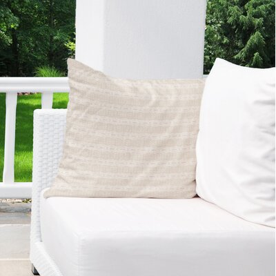 Albreda Indoor/Outdoor Throw Pillow Color: Black/ Cream, Size: 16 H x 16 W