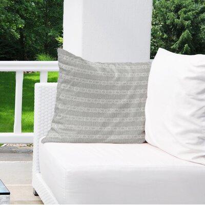 Albreda Indoor/Outdoor Throw Pillow Color: Grey, Size: 16 H x 16 W