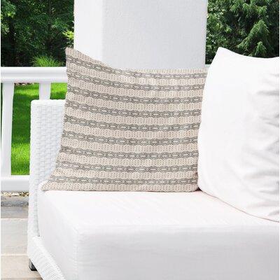 Albreda Indoor/Outdoor Throw Pillow Color: White/ Cream, Size: 16 H x 16 W