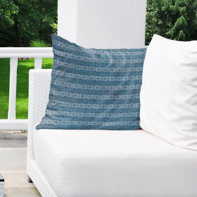 Albreda Indoor/Outdoor Throw Pillow Color: Navy, Size: 16 H x 16 W