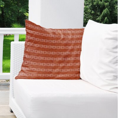 Albreda Indoor/Outdoor Throw Pillow Color: Rust, Size: 16 H x 16 W