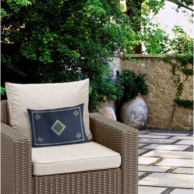 Outdoor Geometric Lumbar Pillow with Double Sided Print