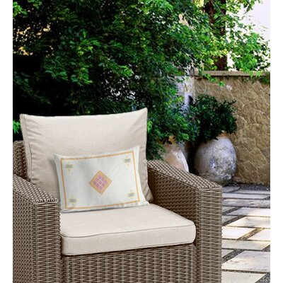 Outdoor Burlap Lumbar Pillow with Double Sided Print