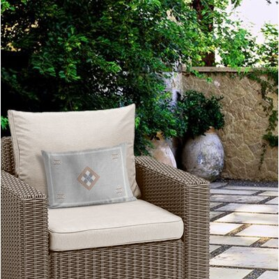 Outdoor Polyester Burlap Lumbar Pillow with Double sided print