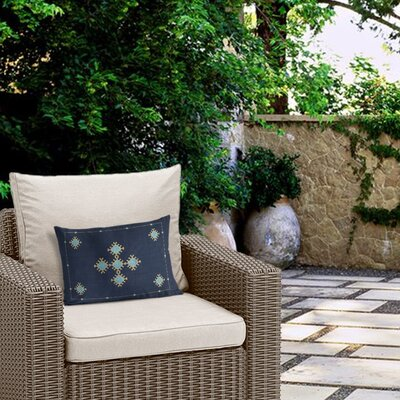 Outdoor Geometric Rectangular Lumbar Pillow with Double Sided Print