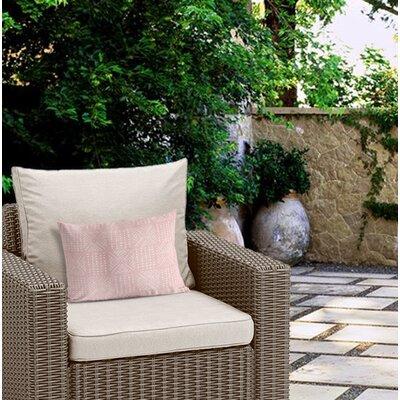 Outdoor Geometric Zipper Lumbar Pillow Color: Pink