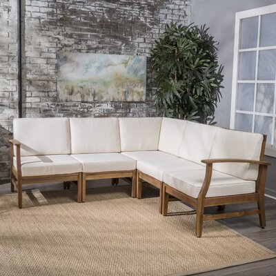 Butler Indoor Sectional with Cushion Upholstery: Cream